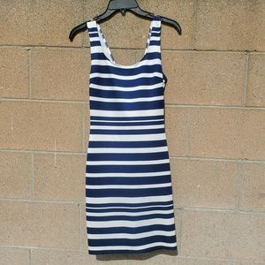 Blue stripped Bodycon Mini Dress